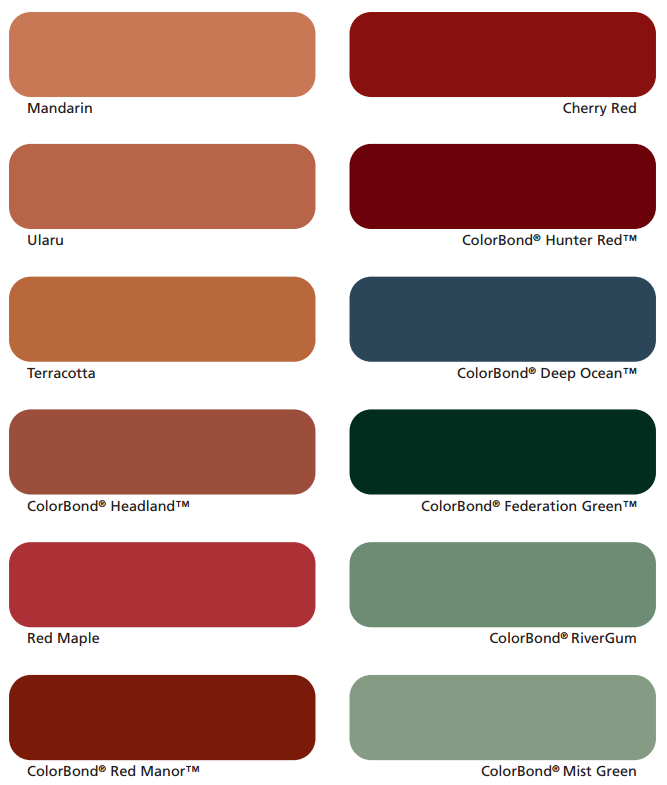 Vivify Roofing Colour Option