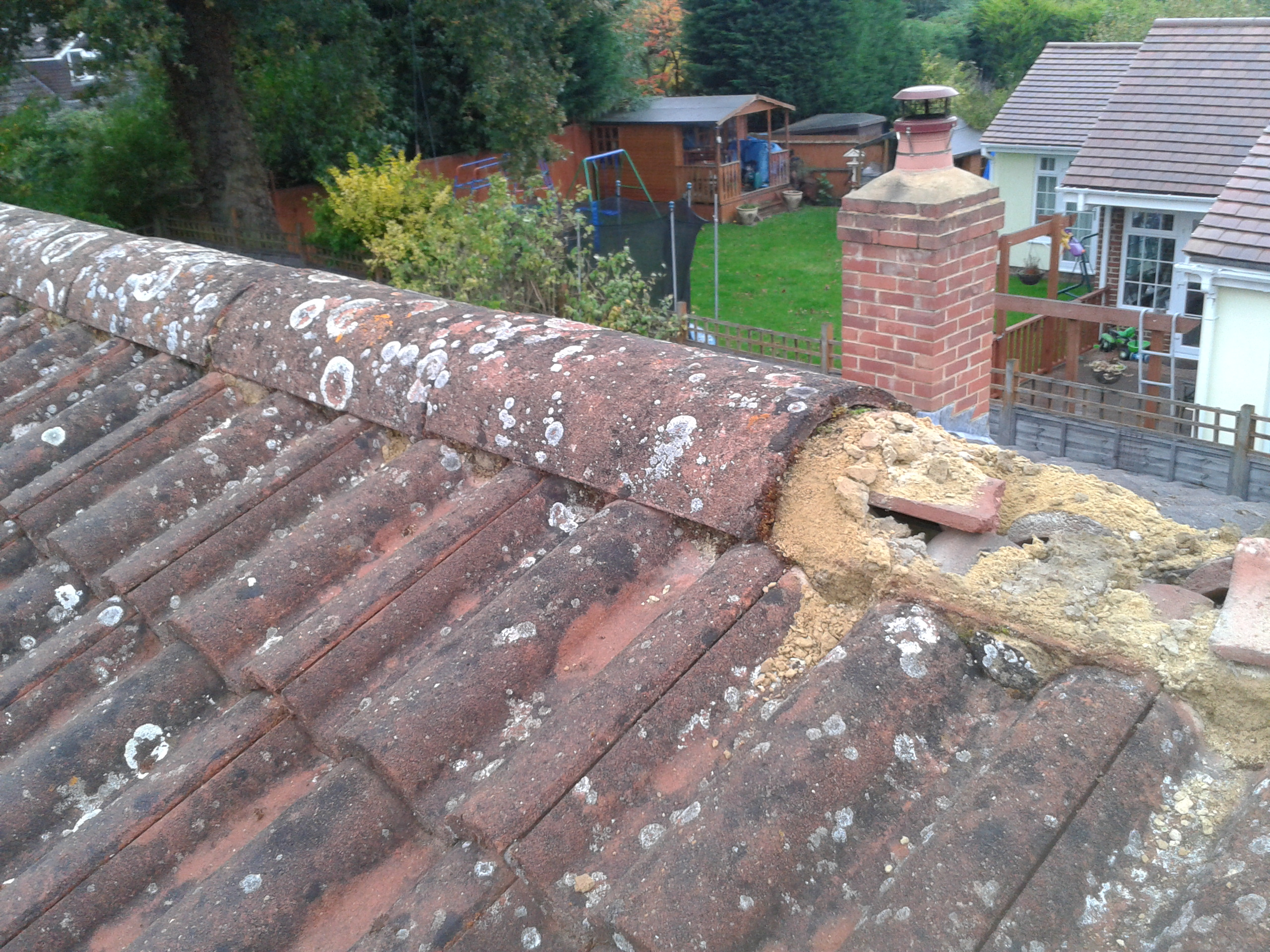 Broken Clay Roof Tile