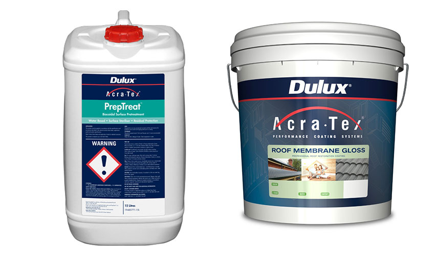 Dulux AcraTex terracotta