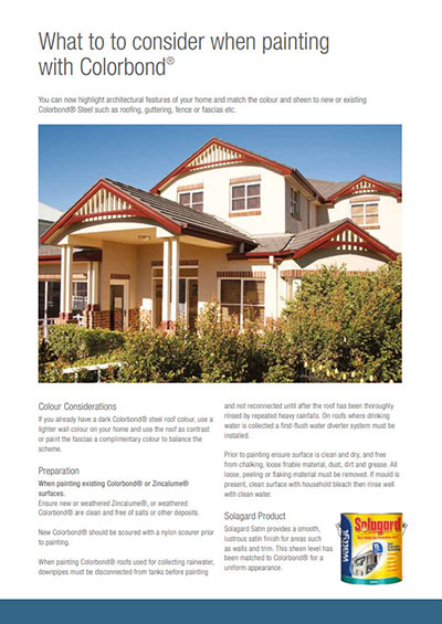 Wattly Colorbond Roof Painting Guide