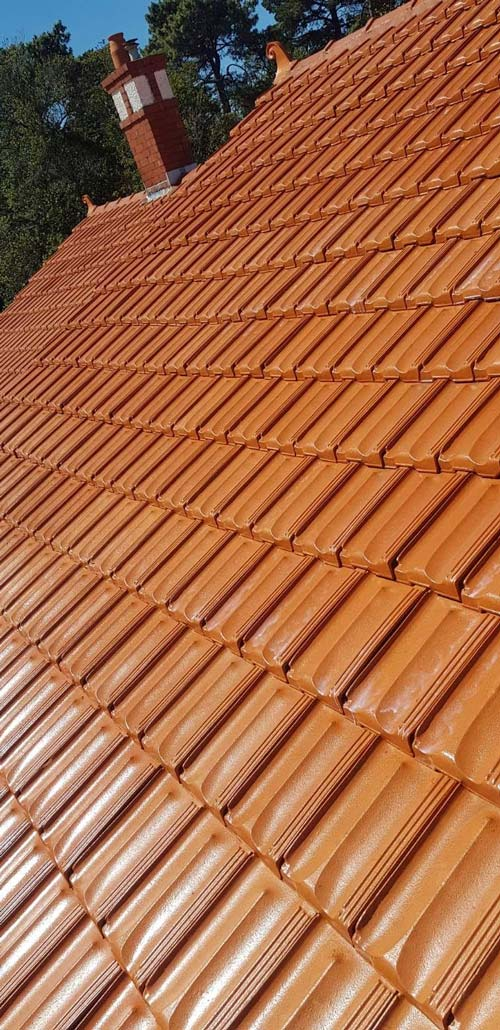 After Terracotta Roof Sealing