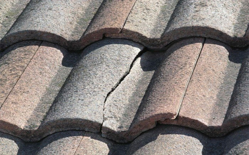 Weak and Cracked Roof Tile