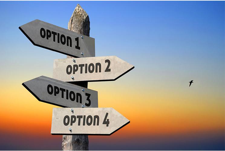 Deflecting Energy Options