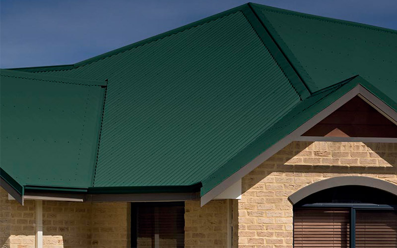 Green Metal Roof Colour